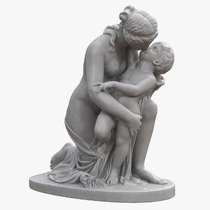 3D venus kiss cupid model