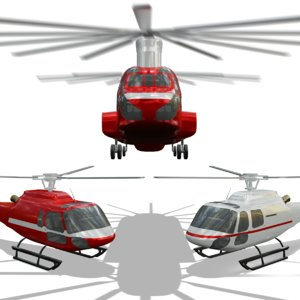 3 helicopters 3D model