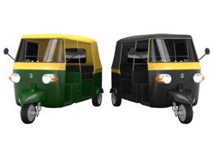rickshaw auto 3D model