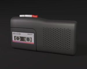 recorder 3D model