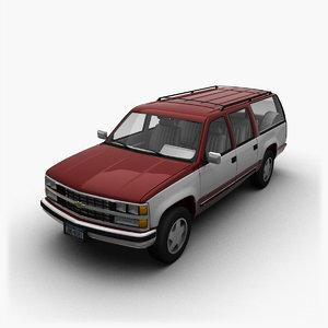 3D chevrolet suburban model