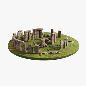 stonehenge zbrush ztl 3D model