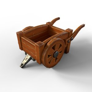 3D model cartoon cart polys