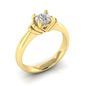 3D luxury engagement ring gem