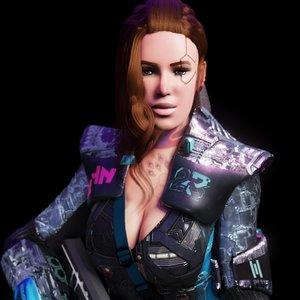 3D sci-fi cyberpunk girl adrestia model