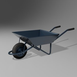 3D wheelbarrow pushcart wheel