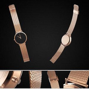 wrist watch realistic pbr 3D model
