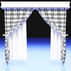 3D curtain translucent model