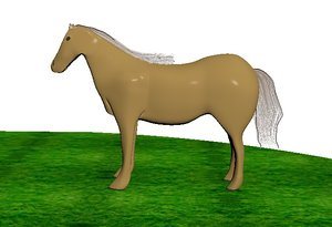 horse animal 3D model