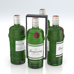 3D model gin bottle alcohol