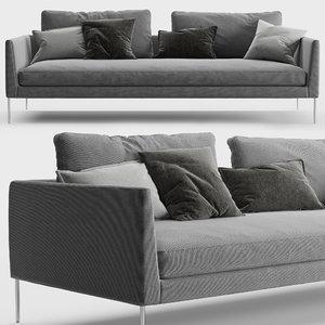3D sofa cor
