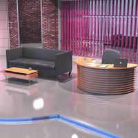 Evening TV Talk Show Studio