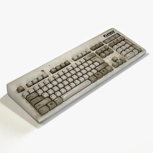 3D old keyboard keys