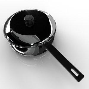3D pan saucepan