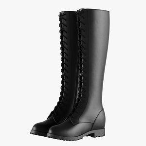 3D knee black boots model