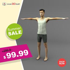 rigged handsome man 3D model