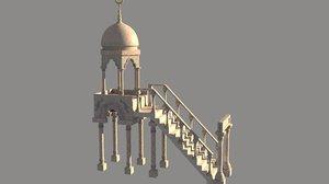 mosque menbar 3D model
