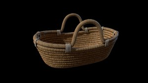 3D cradle crib basket