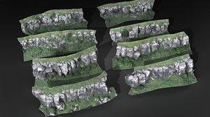 3D model mountain rock scanned pack