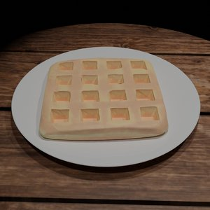 3D waffle plate table model