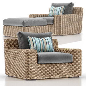 cayman outdoor lounge ottoman model