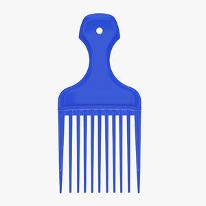 3D hair comb hairdresser model