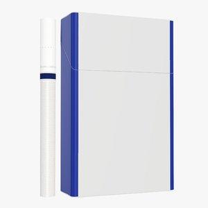 closed cigarette pack 3D model