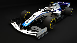 f1 williams fw43 3D model