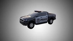 3D police car suv model