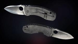 tactical survival knife 3D model