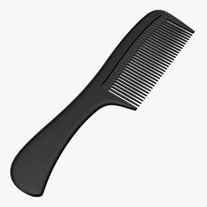 hair comb wide 3D model