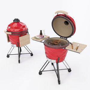 3D kamado grill model