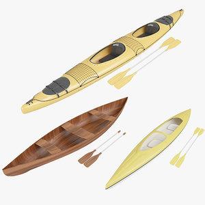 canoe boat model