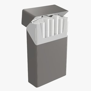 3D opened cigarette pack