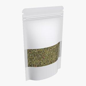 3D bag tea food