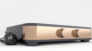 3D model hifi amplifier amp