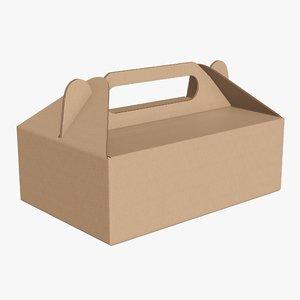 3D packaging cardboard food model