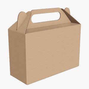 3D packaging cardboard food