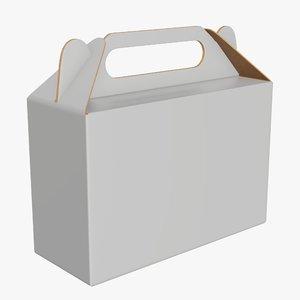 3D model packaging cardboard food