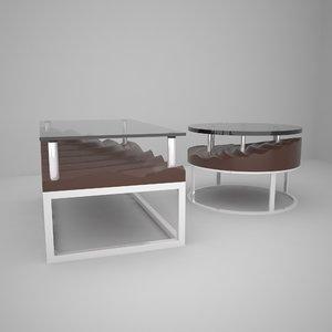 3D model rectangular table