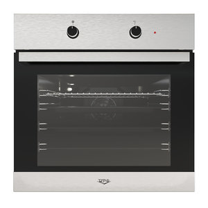 oven upo 6107w brushed metal 3D