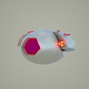 drone sci-fi 3D model