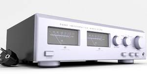 amplifier uv meter 3D model