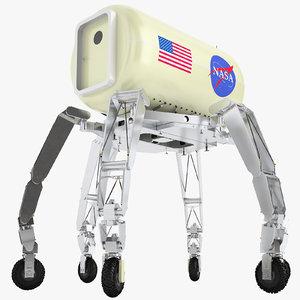 3D nasa athlete lunar model