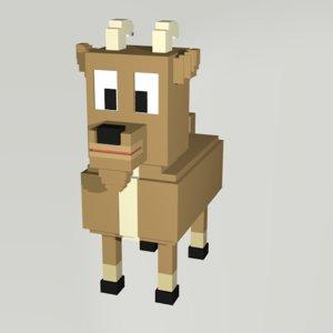 goat voxel 3D