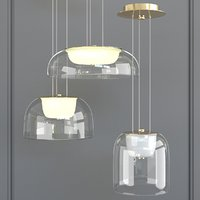 Hembry gold Set of chandeliers