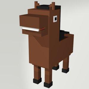 horse voxel 3D model