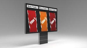 3D designed advertising billboard model