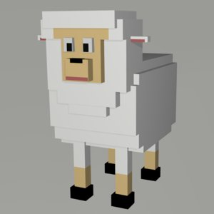 sheep voxel 3D model