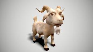 3D art goat cartoon model